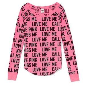 NWT PINK PJ Shirt